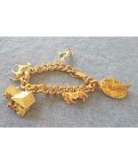 Vintage 1960's HOBCO House of Borvani 24K Gold Plated Charm Bracelet - $25.00