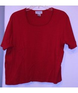 JENNIFER MOORE * T-SHIRT * RED - 100% COTTON - EXTRA LARGE - SHORT SLEEVES - $5.99