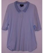 CHARTER CLUB  * T-SHIRT * - WHITE/BLUE STRIPES -  COTTON - X L -  SHORT ... - $5.99