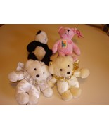 LOT  OF 4 DIFFERENT TEDDY BEARS - $14.99