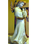KIRKLAND'S   POTTERS GARDEN  *CERAMIC ANGEL* HAND PAINTED  10 1/2 INCHES... - $19.99