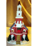 PORCELAIN  CHURCH CANDLE HOLDER COLLECTION  5 1/2  X  4  X  3 - $13.99