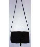 LA REGALE  EVENING BAG  9 X 6 X 1 - BLACK SATIN - $11.99