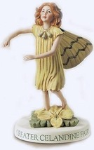 Retired Cicely Mary Barker Greater Celandine Flower Fairy Figurine Ornam... - $52.95