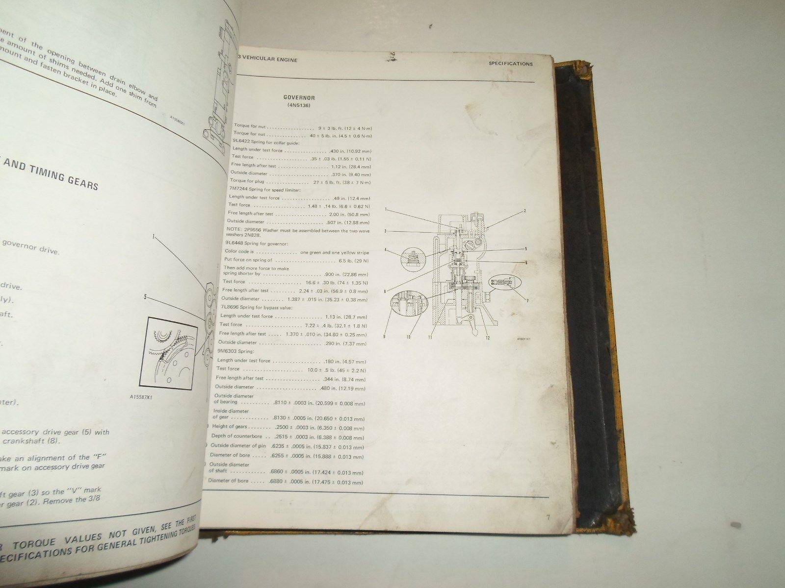 ... Caterpillar D353 Vehicular Engines Dual D9H Tractor Power Train Specs  Manual SET ...