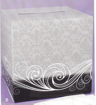 Damask Wedding Shower Party Card Box - $18.90