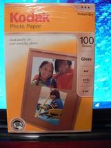 NEW KODAK 1743327 Photo Paper, 6.5 mil, Glossy, 4 x 6, 100 Sheets/Pack - $19.59