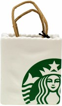 Starbucks 2018 Limited Ceramic Tote Holiday Christmas Tree Ornament - $18.81