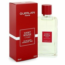 Habit Rouge L'eau by Guerlain Eau De Toilette Spray for Men - $33.99+