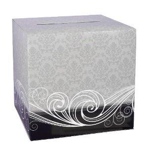 Damask Wedding Shower Party Card Box