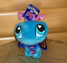 "Littlest Pet Shop VIP Plush Brocade Wings 8"" Blue Butterfly NWT Wants Pl... - $6.95"