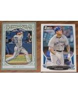 2013 Set of Two Brett Lawrie Baseball Cards- Bowman & Gypsy Queen - $1.00