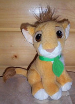 "Disney Lion King Simba 9"" with Growl Sound & Green Leaf Jungle Tie Pal    - $7.89"