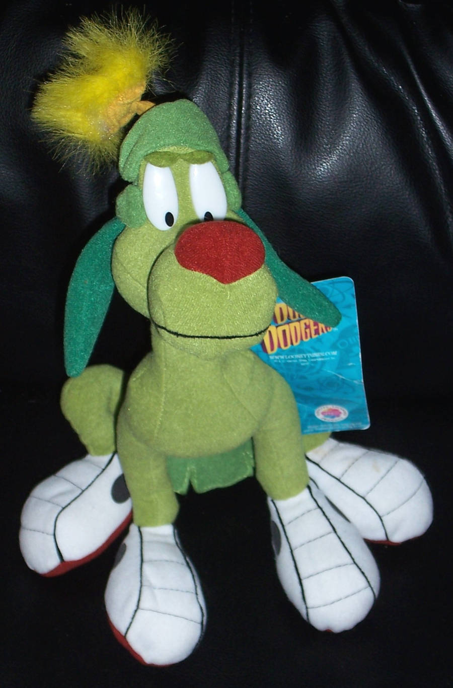 "WARNER BROTHERS STUDIO STORE MARVIN THE MARTIAN K-9 8/"" BEAN BAG PLUSH LARGE TAG"