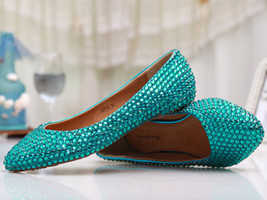 Custom size, bridal wedding shoes, bridesmaid shoes,Party flats,Low heels shoes - $88.00