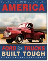 Ford Trucks Built Tough Advertising Metal Tin S... - $21.95