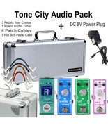 Tone City 3 Effect Pedal Bundle Plus pedalboard and Rowin Tuner + DC 9V Free Shi - $249.95