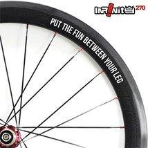 4x bike rims sticker decal slogan quote 700C wheel road bike fixie hub W... - $12.99