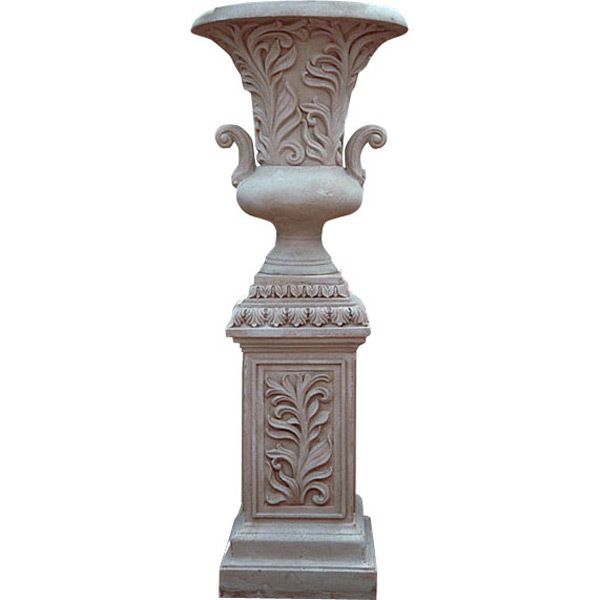 garden pool patio leaf handle urn on pedestal 64 39 39 tall