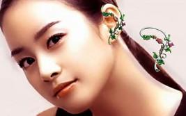 Vintage Flower Ear Cuff 0215, Gold Bird Ear Cuf... - $15.99