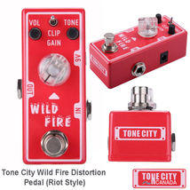 Tone City Wild Fire Distortion TC-T1 EffEct Pedal Micro as Mooer Hand M... - $59.00