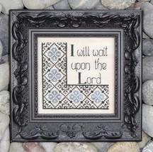 Wait Upon The Lord cross stitch chart My Big Toe Designs - $8.00