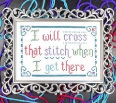 Cross That Stitch cross stitch chart My Big Toe Designs - $8.00