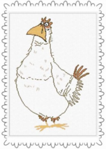 Guendalina chicken cross stitch chart Alessandra Adelaide Needleworks - $17.10
