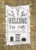 Welcome To My Kingdom cross stitch chart Alessandra Adelaide Needleworks - $15.30