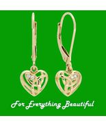 Eternal Love Heart Diamond Welsh Gold Leverback... - $595.00