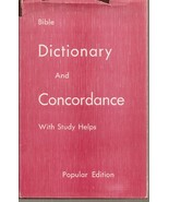 BOOK- Bible Dictionary and Concordance Popular Edition [Hardcover] James... - $9.99