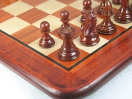 "Staunton Weighted ChessPieces & Board Combo in Bud Rose Wood - 3.0"" King - D0133 - $341.98"