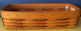 Longaberger 1995 Woven Trad Bread Basket w/ Protector - $37.23