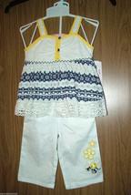 Kids Headquarters, Baby Girl  2 Pc Crochet Top&Capri Set. Size 24 Months... - $14.84