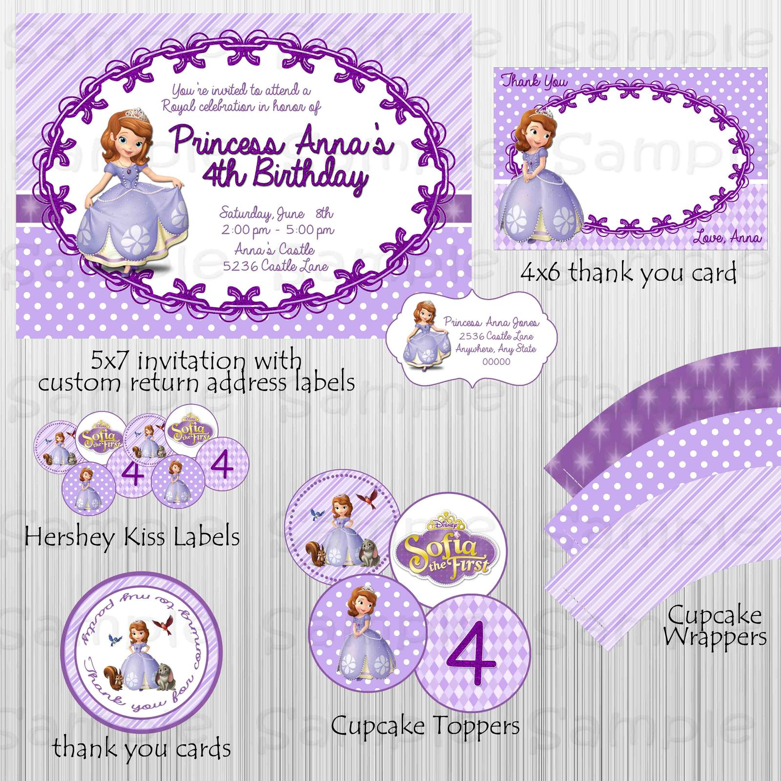 Printable Sofia The First Birthday Party And 12 Similar Items