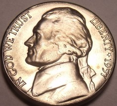 United States Unc 1957-D Jefferson Nickel~Excellent~Free Shipping - $4.01