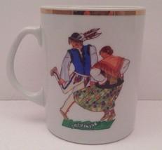 Favolina~Polish Folk Dancer GORALSKI Gold Trim Cup Made in Poland - $14.80
