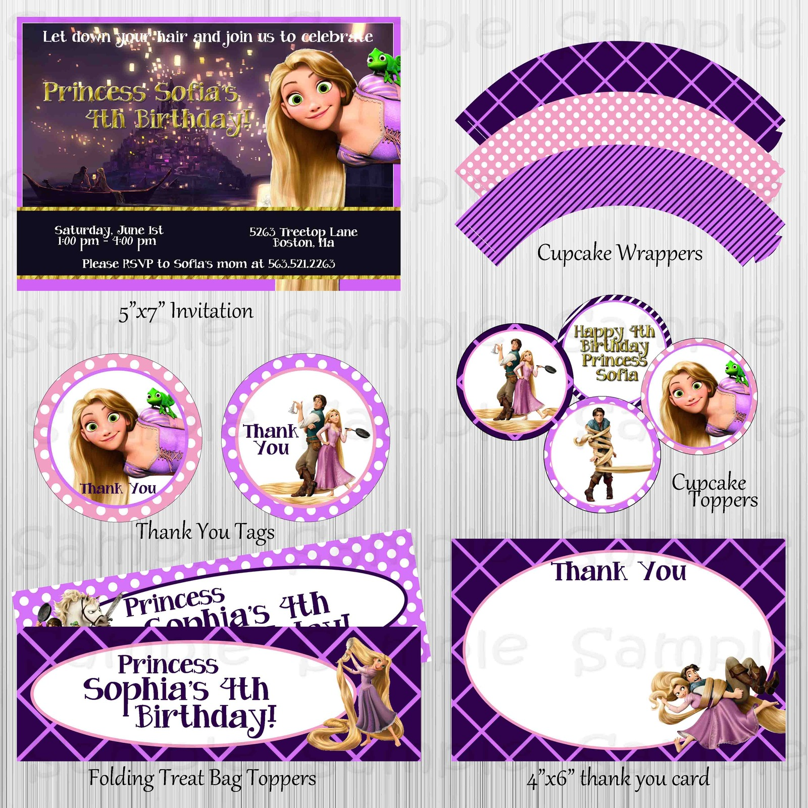 Printable tangled birthday party package decorations for 21st birthday decoration packages
