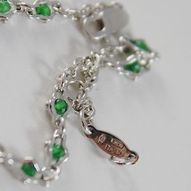 925 SILVER BRACELET WITH EMERALD AND VIRGIN MARY MEDAL BY ZANCAN MADE IN ITALY image 5