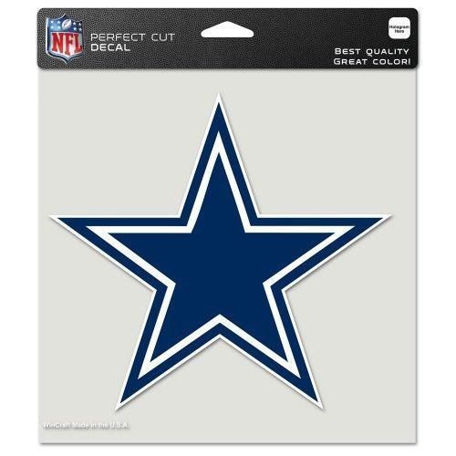 "DALLAS COWBOYS (COLOR) 8"" X 8"" CLEAR FILM DIE CUT LOGO DECAL NFL FOOTBALL"