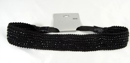 New Black Headband Loaded with Jet Black Stones NWT From Target #H0026 - €3,54 EUR