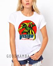 Women Tshirt Vision Marvel Comics The Avengers ... - £14.00 GBP