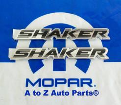 """(2) NEW 2015 Dodge Challenger """"SHAKER"""" Hood Nameplates /  Emblems, OEM Mopar - $68.95"""
