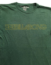 Billabong Mens Surfer Skater Beach Ocean Logo Green T Shirt Sz.S - $12.99