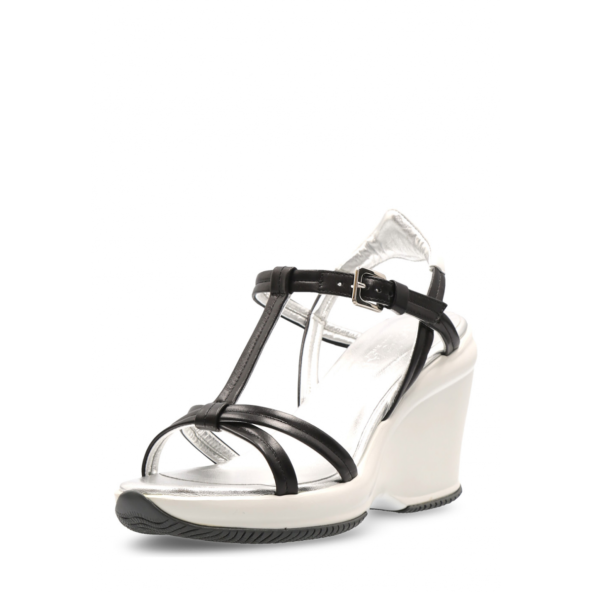 Primary image for Hogan Womens Wedge Sandal Black HXW1460A14033YV3635