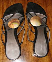 Nine West   Sandals     Black  8 1/2 M   Leather Uppers - $12.99
