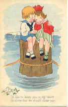 I am Keeping You In My Heart 1922 Vintage Post Card - $5.00