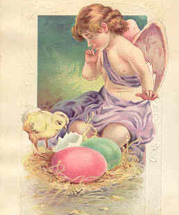 An Easter Greetings Vintage Post Card
