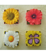 Magnets, Set of 4, Resin, Flower Daze Collection - $15.00