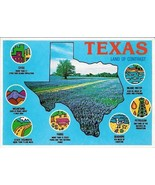 c1985 - Texas, Land of Contrast, The Lone Star State - Unused - $2.99